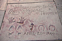 Roy Rogers and Trigger, Hand - Footprint, Impressions, Grauman's, Chinese, Theater, Hollywood, CA