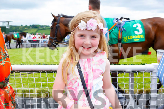 Amie O'Connell (Listowel) enjoying her day out at the Listowel Races on Sunday.