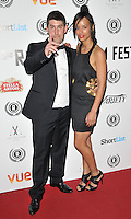 "Robert Osman & Veronica Jean Trickett attend the ""My Hero"" Raindance Film Festival UK film premiere, Vue Piccadilly cinema, Lower Regent Street, London, England, UK, on Friday 25 September 2015. <br /> CAP/CAN<br /> ©Can Nguyen/Capital Pictures"