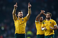 Adam Ashley-Cooper of Australia celebrates with the crowd after the match. Rugby World Cup Pool A match between England and Australia on October 3, 2015 at Twickenham Stadium in London, England. Photo by: Patrick Khachfe / Onside Images