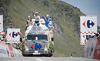 Publicity Caravan up the Col du Tourmalet (HC/2115m/17km/7.3%)<br /> <br /> st11: Pau - Cauterets (188km)<br /> 2015 Tour de France