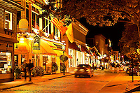 Downtown shops and restaurants, Thames St, .Newport, RI, Rhode Island, USA