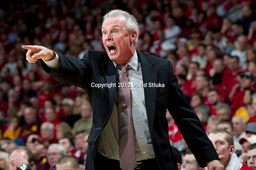 Wisconsin Badgers Head Coach Bo Ryan during a Big Ten Conference NCAA college basketball game against the Minnesota Golden Gophers on Tuesday, February 28, 2012 in Madison, Wisconsin. The Badgers won 52-45. (Photo by David Stluka)