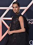 "Naomi Scott 009 attends the premiere of Columbia Pictures' ""Charlie's Angels"" at Westwood Regency Theater on November 11, 2019 in Los Angeles, California."