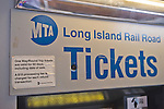 Long Island Rail Road tickets machine at Merrick train station of Babylon branch, after MTA Metropolitan Transit Authority and Long Island Rail Road union talks deadlock, with potential LIRR strike looming just days ahead.
