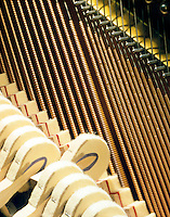 VIBRATING PIANO STRING<br /> Hammer Has Struck Note & String Vibrates