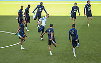 French Players warm up during the France National Team Training session ahead of the match with England tomorrow evening at Stade de France, Paris, France on 12 June 2017. Photo by David Horn / PRiME Media Images.