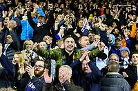 Leeds United fans celebrate after a breathless finale<br /> <br /> Photographer Alex Dodd/CameraSport<br /> <br /> The EFL Sky Bet Championship - Leeds United v Blackburn Rovers - Wednesday 26th December 2018 - Elland Road - Leeds<br /> <br /> World Copyright &copy; 2018 CameraSport. All rights reserved. 43 Linden Ave. Countesthorpe. Leicester. England. LE8 5PG - Tel: +44 (0) 116 277 4147 - admin@camerasport.com - www.camerasport.com