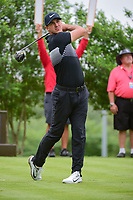Brooks Koepka (USA) watches his tee shot on 18 during round 1 of the Valero Texas Open, AT&amp;T Oaks Course, TPC San Antonio, San Antonio, Texas, USA. 4/20/2017.<br /> Picture: Golffile | Ken Murray<br /> <br /> <br /> All photo usage must carry mandatory copyright credit (&copy; Golffile | Ken Murray)
