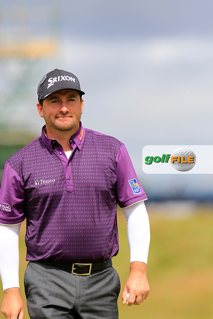 Graeme McDOWELL (NIR) on the 17th green during Sunday's Round  of the 144th Open Championship, St Andrews Old Course, St Andrews, Fife, Scotland. 19/07/2015.<br /> Picture Eoin Clarke, www.golffile.ie