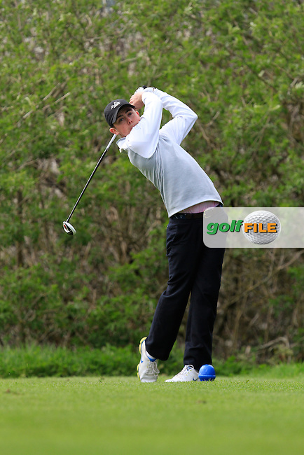 Sam Power (Waterford Castle) on the 15th tee during Day 1 of The Munster Youths' Amateur Open Championship in Dungarvan Golf Club on Wednesday 23nd April 2014.<br /> Picture:  Thos Caffrey / www.golffile.ie