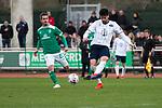 09.03.2019, Platz 11, Bremen, GER,RL Nord, Werder Bremen II vs VfB Oldenburg, im Bild<br /> am Ball Ahmet SAGLAM (VfB Oldenburg #22 ) dahinter Finn BARTELS  (Werder Bremen II #22 )<br /> <br /> Foto &copy; nordphoto / Rojahn