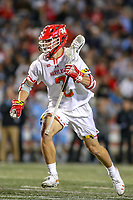 College Park, MD - April 27, 2019: Maryland Terrapins midfielder Bubba Fairman (2) in action during the game between John Hopkins and Maryland at  Capital One Field at Maryland Stadium in College Park, MD.  (Photo by Elliott Brown/Media Images International)