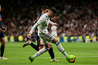 Real Madrid's Federico Valverde and Valencia CF's Jose Gaya during La Liga match between Real Madrid and Valencia CF at Santiago Bernabeu Stadium in Madrid, Spain. December 01, 2018. (ALTERPHOTOS/A. Perez Meca) /NortePhoto NORTEPHOTOMEXICO
