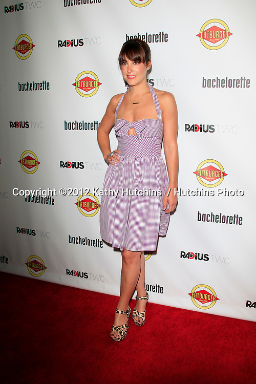 """LOS ANGELES - AUG 23:  Lindsay Sloan arrives at the """"Bachelorette"""" Premiere at ArcLight Cinema Theaters on August 23, 2012 in Los Angeles, CA"""