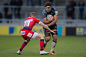 24th March 2018, AJ Bell Stadium, Salford, England; Aviva Premiership rugby, Sale Sharks versus Worcester Warriors; Jono Ross of Sale Sharks is tackled by Michael Dowsett of Worcester Warriors
