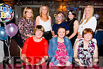 Bernie O'Brien from Kilflynn enjoying her baby shower with family at Cassidy's on Saturday night.The new little arrival is due the end of October. Front l-r  Ann Mansell, Bernie O'Brien and Siobhan O'Brien. Back l-r Angela Mansell, Susan Mansell, Sharon O'Brien, Joanne O'Brien and Agnes Mansell.