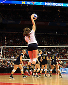 The University of Michigan women's volleyball team lost to Texas, 3-2, in the NCAA Tournament National Semifinals at the KFC Yum Center in Louisville, KY., on December 13, 2012.