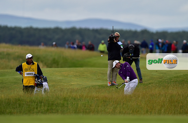 Marc WARREN (SCO) plays into the 12th green during Friday's Round 2 of the 144th Open Championship, St Andrews Old Course, St Andrews, Fife, Scotland. 17/07/2015.<br /> Picture Eoin Clarke, www.golffile.ie