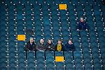 Solna 2014-03-15 Bandy SM-final Damer Kareby IS - AIK  : <br /> Tomma stolar runt publik p&aring; l&auml;ktare under matchen<br /> (Foto: Kenta J&ouml;nsson) Nyckelord:  SM SM-final final dam damer Kareby AIK supporter fans publik supporters