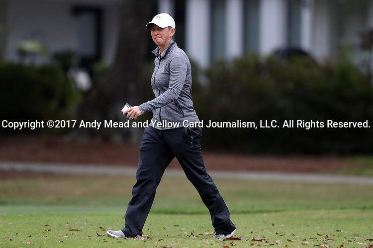 WILMINGTON, NC - OCTOBER 28: UCF head coach Emily Marron. The second round of the Landfall Tradition Women's Golf Tournament was held on October 28, 2017 at the Pete Dye Course at the Country Club of Landfall in Wilmington, NC.