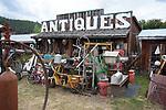 Roadside antique shop in rural area near Kalispell, Mntana