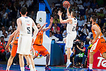 Real Madrid's player Jaycee Carroll and Valencia Basket's Diot during the first match of the Semi Finals of Liga Endesa Playoff at Barclaycard Center in Madrid. June 02. 2016. (ALTERPHOTOS/Borja B.Hojas)