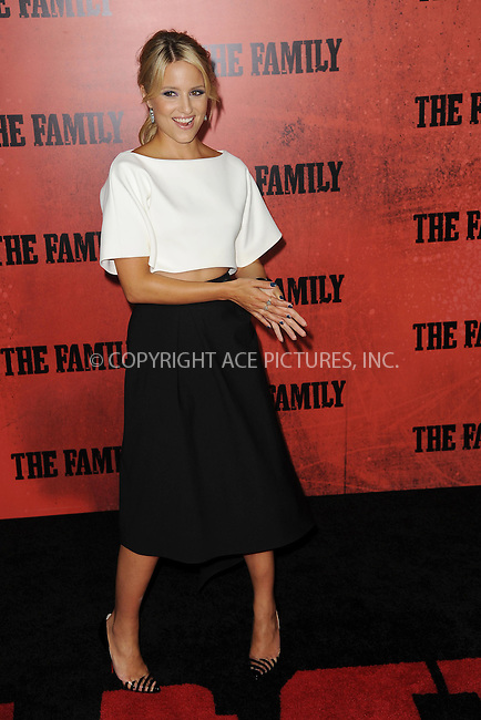 WWW.ACEPIXS.COM<br /> September 10, 2013 New York City<br /> <br /> Dianna Agron attending the World Premiere of &quot;The Family&quot; in New York City on September 10, 2013. <br /> By Line: Kristin Callahan/ACE Pictures<br /> <br /> ACE Pictures, Inc.<br /> tel: 646 769 0430<br /> Email: info@acepixs.com<br /> www.acepixs.com<br /> Copyright:<br /> Kristin Callahan/ACE Pictures