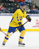 Patrick Cehlin (Sweden - 9) - Sweden defeated the Czech Republic 4-2 at the Urban Plains Center in Fargo, North Dakota, on Saturday, April 18, 2009, in their final match of the 2009 World Under 18 Championship.