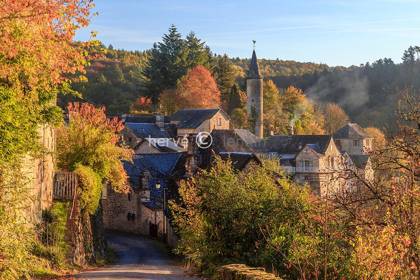 France, Correze, La Roche Canillac, the Roche-Basse district // France, Corrèze (19), La Roche-Canillac, quartier de la Roche-Basse