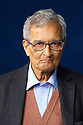 Amartya Sen,Indian writer of the book The Idea of Justice  and Harvard Professor of Philosophy and economics at The Edinburgh International  Book Festival 2010 .CREDIT Geraint Lewis