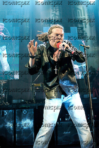 Guns n' Roses - Axl Rose - performing live at the Hammerstein Ballroom in New York USA - 12 May 2006.  Photo credit: George Chin/IconicPix