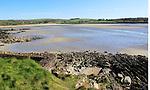 Coastal scenery River Arigideen estuary low tide, Burren, Rathclaren, County Cork, Ireland, Irish Republic