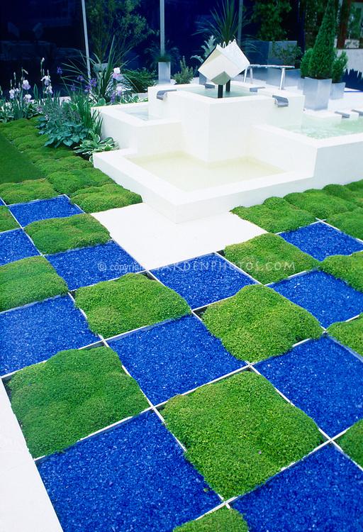 Checkerboard Squares Modern Geometric Garden Design Plant