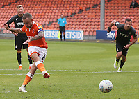 Blackpool's Jay Spearing misses his sides second penalty kick<br /> <br /> Photographer Rachel Holborn/CameraSport<br /> <br /> The EFL Sky Bet League One - Blackpool v Bradford City - Saturday September 8th 2018 - Bloomfield Road - Blackpool<br /> <br /> World Copyright &copy; 2018 CameraSport. All rights reserved. 43 Linden Ave. Countesthorpe. Leicester. England. LE8 5PG - Tel: +44 (0) 116 277 4147 - admin@camerasport.com - www.camerasport.com