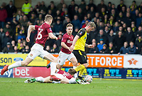 5th January 2020; Pirelli Stadium, Burton Upon Trent, Staffordshire, England; English FA Cup Football, Burton Albion versus Northampton Town; David Templeton of Burton Albion gets past Charlie Goode of Northampton Town on the grass  - Strictly Editorial Use Only. No use with unauthorized audio, video, data, fixture lists, club/league logos or 'live' services. Online in-match use limited to 120 images, no video emulation. No use in betting, games or single club/league/player publications