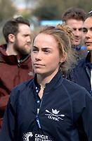 Putney/Mortlake, GREATER LONDON. United Kingdom. 2017 Women's and Men's University Boat Races, held over, The Championship Course, Putney to Mortlake on the River Thames., Flo PICKLES. <br /> <br /> Sunday  02/04/2017, <br /> <br /> [Mandatory Credit; Intersport Images]