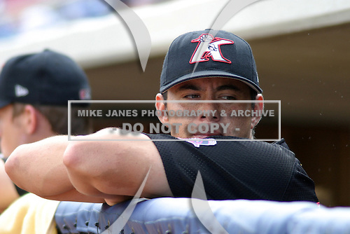 August 17, 2003:  Armando Perez of the Kannapolis Intimidators during a game at Classic Park in Eastlake, Ohio.  Photo by:  Mike Janes/Four Seam Images