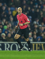Referee Anthony Taylor<br /> <br /> Photographer David Horton/CameraSport<br /> <br /> The Premier League - Brighton and Hove Albion v Arsenal - Wednesday 26th December 2018 - The Amex Stadium - Brighton<br /> <br /> World Copyright © 2018 CameraSport. All rights reserved. 43 Linden Ave. Countesthorpe. Leicester. England. LE8 5PG - Tel: +44 (0) 116 277 4147 - admin@camerasport.com - www.camerasport.com