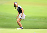 DES MOINES, IA - AUGUST 20: USA's Danielle Kang tries some body english on her birdie putt on the 9th hole during her singles match Sunday morning at the 2017 Solheim Cup in Des Moines, IA. (Photo by Dave Eggen/Inertia)