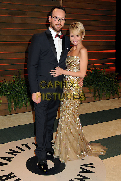 02 March 2014 - West Hollywood, California - Dana Brunetti, Kristin Chenoweth. 2014 Vanity Fair Oscar Party following the 86th Academy Awards held at Sunset Plaza. <br /> CAP/ADM/BP<br /> &copy;Byron Purvis/AdMedia/Capital Pictures