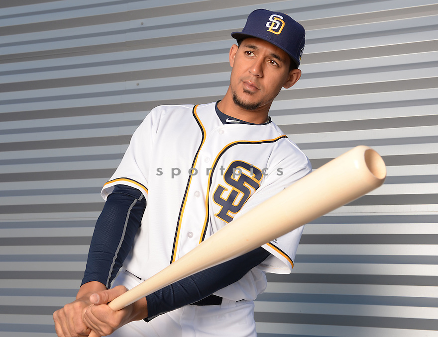 San Diego Padres Jon Jay (24) during photo day on February 26, 2016 in Peoria, AZ.