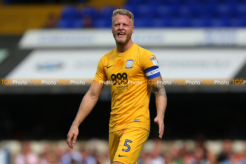 Tom Clarke of Preston North End during Ipswich Town vs Preston North End, Sky Bet EFL Championship Football at Portman Road on 27th August 2016
