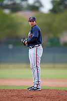 Atlanta Braves pitcher Daysbel Hernandez (11) gets ready to deliver a pitch during an Instructional League game against the Philadelphia Phillies on October 9, 2017 at the Carpenter Complex in Clearwater, Florida.  (Mike Janes/Four Seam Images)