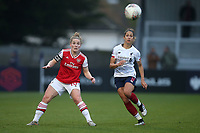 Kim Little of Arsenal and Courtney Sweetman-Kirk of Liverpool during Arsenal Women vs Liverpool Women, Barclays FA Women's Super League Football at Meadow Park on 24th November 2019