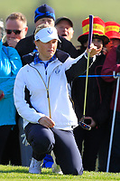 Charley Hull of Team Europe on the 7th green during Day 1 Foursomes at the Solheim Cup 2019, Gleneagles Golf CLub, Auchterarder, Perthshire, Scotland. 13/09/2019.<br /> Picture Thos Caffrey / Golffile.ie<br /> <br /> All photo usage must carry mandatory copyright credit (© Golffile | Thos Caffrey)