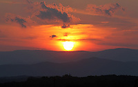 Sunset over the Blue Ridge mountains as seen from Madison County, VA.. Photo/Andrew Shurtleff