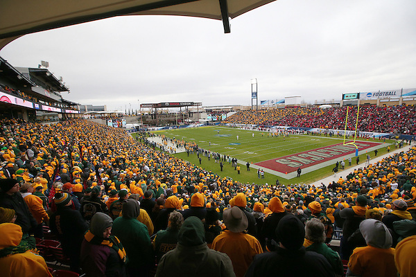 DENTON, TX - JANUARY 9: North Dakota State University v Jacksonville State University  compete for the FCS Division1 Championship Football game at Toyota Stadium in Frisco on January 9, 2016 in Frisco, Texas. (Photo Rick Yeatts)