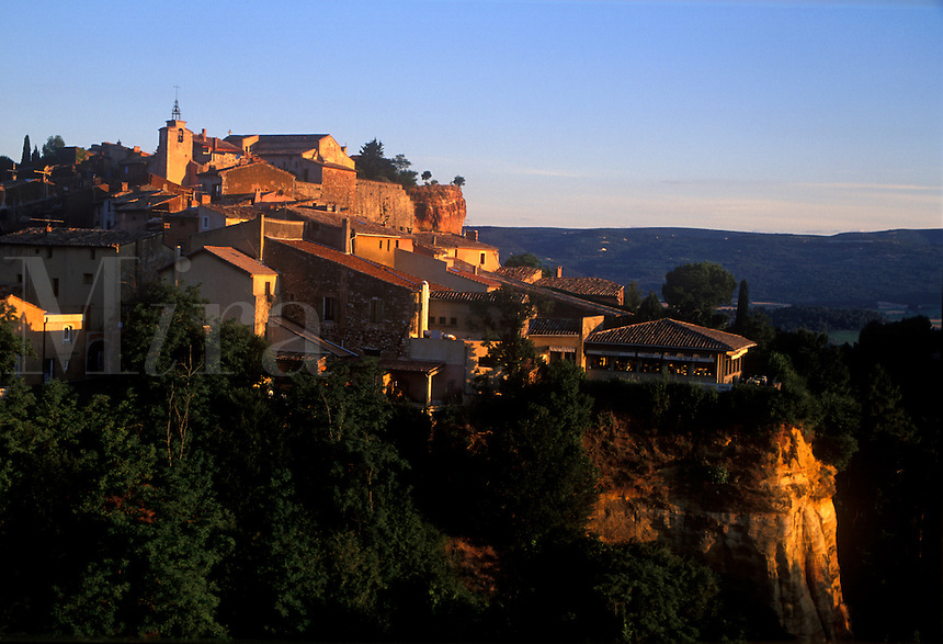 The hilltop village of Roussillon in the Luberon region of southern France.