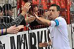 Waldhofs Hanno Balitsch (Nr.14) nach dem Sieg bei den Fans beim Spiel in der Regionalliga Suedwest SV Spielberg - SV Waldhof Mannheim.<br /> <br /> Foto © PIX-Sportfotos *** Foto ist honorarpflichtig! *** Auf Anfrage in hoeherer Qualitaet/Aufloesung. Belegexemplar erbeten. Veroeffentlichung ausschliesslich fuer journalistisch-publizistische Zwecke. For editorial use only.